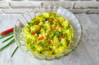 Датський картопляний салат - рецепт приготування