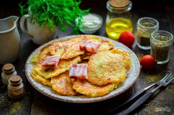 Деруни з салом - рецепт приготування