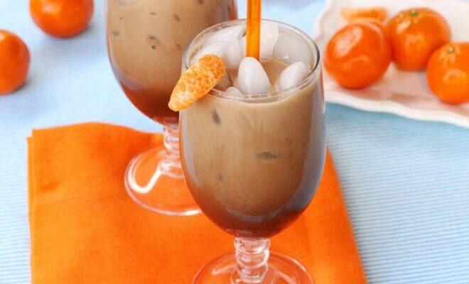 Мокко з молоком і мандаринами - рецепт приготування