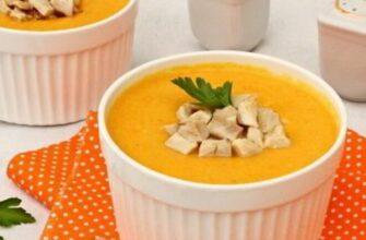 Морквяний суп з куркою і плавленим сиром - рецепт приготування