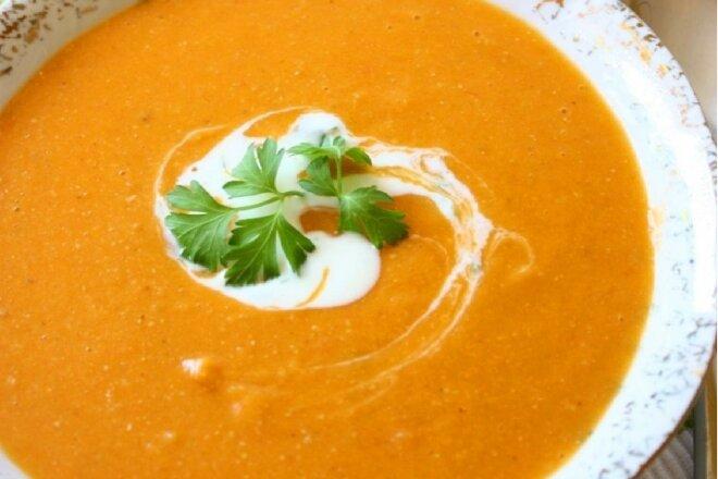Морквяно-картопляний суп-пюре з вершками - рецепт приготування