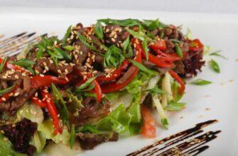Тайський теплий салат - рецепт приготування