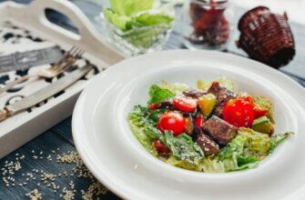 Теплий салат з мармурової яловичини і овочів - рецепт приготування