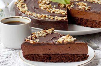 """Торт """"Шоколадне пташине молоко"""" - рецепт приготування"""