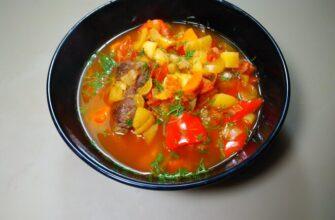 Угорський суп гуляш Бограч з яловичиною - рецепт приготування