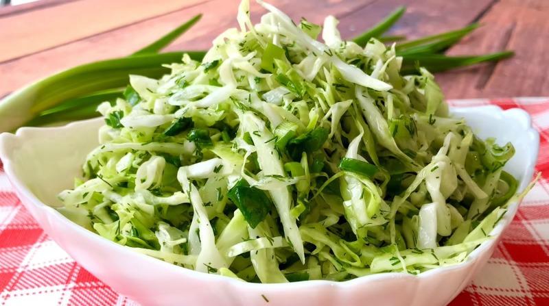 Весняний салат «Хвилинка» - рецепт приготування