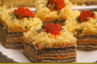 Часто до свят готую торт з оселедця - рецепт приготування