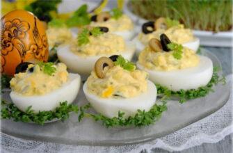 Фаршировані яйця по-грецьки - рецепт приготування