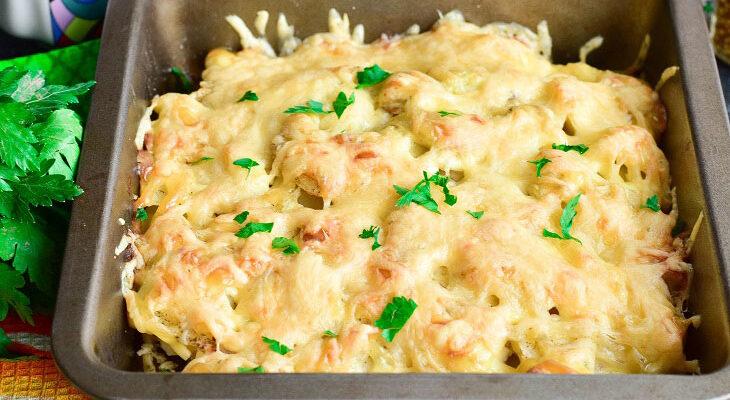 Гратен з куркою і сиром - відмінне страва на вечерю або святковий стіл - рецепт приготування