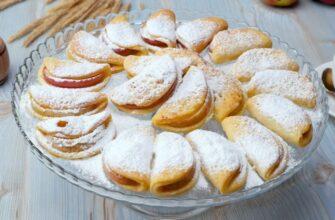 Коли в холодильнику є жменю сиру, готую смачне печиво з яблуками - рецепт приготування