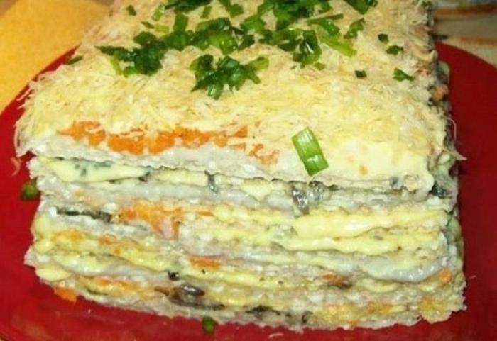 Мій салат-торт гості не можуть нахвалитися - рецепт приготування
