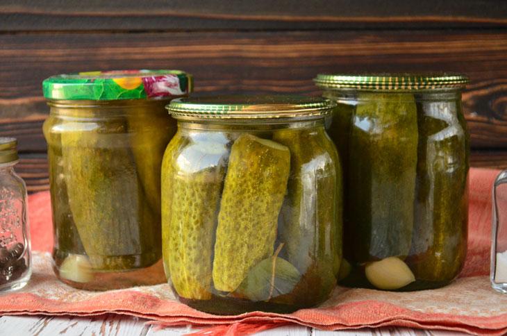Огірки, консервовані з лимонною кислотою - ідеальний спосіб заготовити овочі на зиму - рецепт приготування