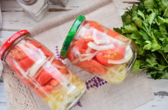 Салат з помідорів з цибулею на зиму - стане улюбленою закускою - рецепт приготування