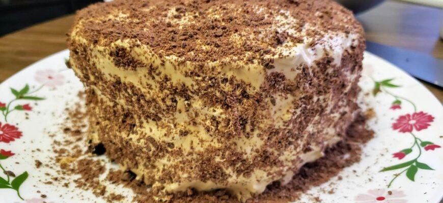 Шоколадний торт для любителів кави - рецепт приготування