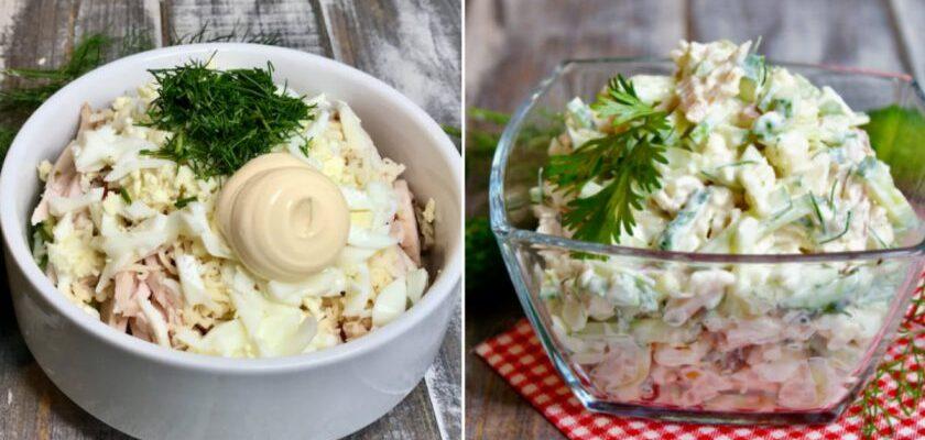Салат з бужениною і огірком - рецепт приготування