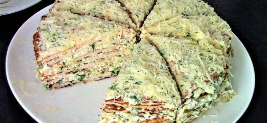 М'ясний торт з курячої грудки - рецепт приготування
