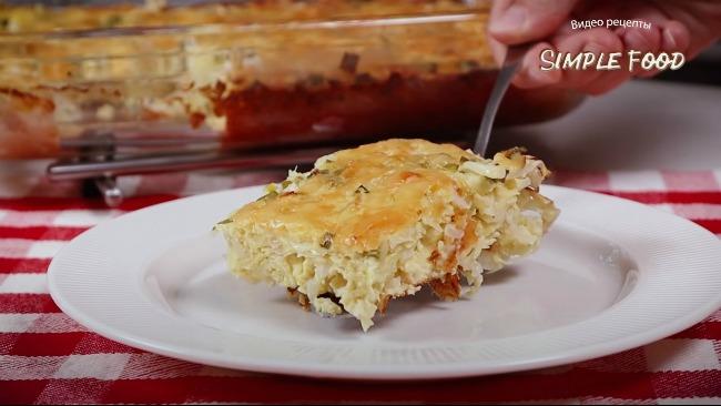 Мій пиріг з капустою це смачна і проста ідея для вечері